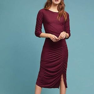 Anthropologie Ranna Gill Sarah Ruched Petite Dress